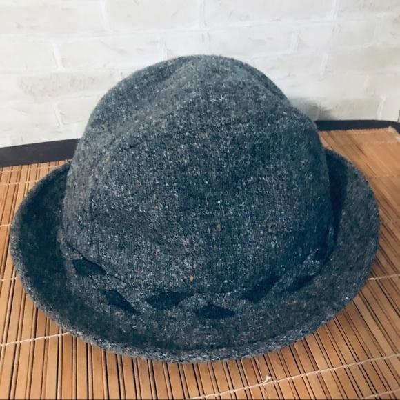 Stetson 100% wool gray hat size 7 1/8